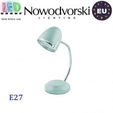 Настольная лампа/корпус Nowodvorski  POCATELLO SILVER 5795, 1xE27, сталь, серебристая. ЕВРОПА!