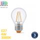 Светодиодная LED лампа, филамент, 4W, E27, G45, 3000K - тёплое свечение, стекло, RA≥90