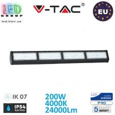 Светодиодный LED светильник V-TAC, 200W, 4000K, 24000Lm, RA≥80, IP54, HIGH BAY, линейный, накладной, чёрный. SAMSUNG CHIP. ЕВРОПА!!! Premium. Гарантия - 5 лет