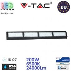 Светодиодный LED светильник V-TAC, 200W, 6500K, 24000Lm, RA≥80, IP54, HIGH BAY, линейный, накладной, чёрный. SAMSUNG CHIP. ЕВРОПА!!! Premium. Гарантия - 5 лет