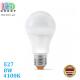 Светодиодная LED лампа 8W, E27, A60, 4100K - нейтральное свечение, алюпласт, RA≥90