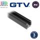 Шинопровод для светодиодных трековых светильников GTV, 1м, трёхфазный, накладной, чёрный. ЕВРОПА!