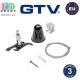 Комплект крепления потолочного GTV для 3-фазного шинопровода X-RAIL, E-Z Click с тросиком 1,5м, крепление 'EASY', чёрный. ЕВРОПА!