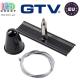 Комплект потолочного крепления GTV для 3-фазного шинопровода X-RAIL, с тросиком 1,2м, чёрный. ЕВРОПА!