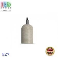Потолочный светильник/корпус, декоративный, круглый, 1xE27, серый