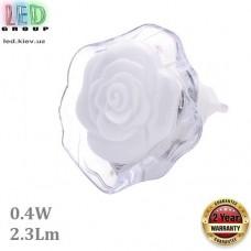 Светодиодный LED светильник-ночник, 0.4W, 2.3Lm, белый, пластик