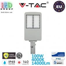 Светодиодный LED прожектор, V-TAC, 100W, 4000K, 14000Lm, SAMSUNG CHIP, IP65, с защитой от скачка напряжения (молниезащита), с драйвером INVENTRONICS, диммируемый. ЕВРОПА!!! Premium. Гарантия - 5 лет
