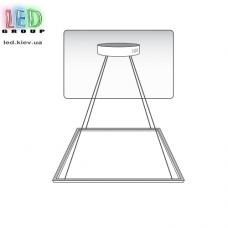 Комплект креплений с фурнитурой для подвесного монтажа светодиодных панелей