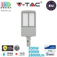 Светодиодный LED прожектор, V-TAC, 200W, 4000K, 28000Lm, SAMSUNG CHIP, IP65, с защитой от скачка напряжения (молниезащита), с драйвером INVENTRONICS, диммируемый. ЕВРОПА!!! Premium. Гарантия - 5 лет
