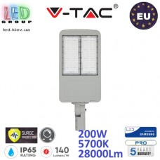 Светодиодный LED прожектор, V-TAC, 200W, 5700K, 28000Lm, SAMSUNG CHIP, IP65, с защитой от скачка напряжения (молниезащита), с драйвером INVENTRONICS, диммируемый. ЕВРОПА!!! Premium. Гарантия - 5 лет
