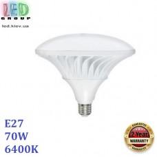 Светодиодная LED лампа 70W, E27, 6400К - холодное свечение, алюминий + пластик, декоративная, RA≥80