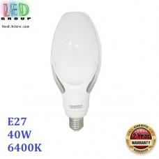 Светодиодная LED лампа 40W, E27, 6400К - холодное свечение, пластик, декоративная