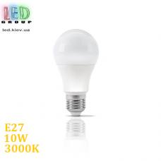 Светодиодная LED лампа 10W, E27, A60, 3000K - тёплое свечение. Гарантия - 1 год.