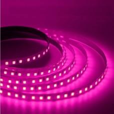 Светодиодная лента 12V, 2835, 120 led/m, 7.2W, IP20, розовая. Гарантия - 6 месяцев