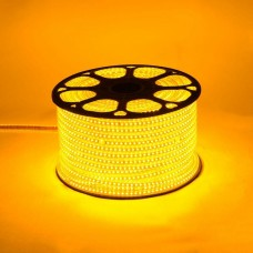 Светодиодная лента 220V, 2835, 120 led/m, 9W, IP67, желтый, Standart. Гарантия - 12 месяцев
