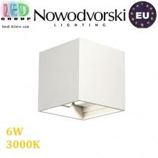 Настенный светодиодный светильник, Nowodvorski LIMA LED 9510, 6W, 3000K, IP54, RA≥80, накладной, алюминий, белый. ЕВРОПА!