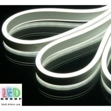 Светодиодный гибкий неон 220V, ДВУХСТОРОННИЙ, LED NEON - 14х7мм, цвет свечения - белый холодный