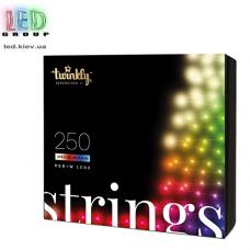 Светодиодная LED гирлянда Twinkly Strings, SMART, RGBW, 250 led, Bluetooth + WiFi, Gen II, IP44, кабель прозрачный