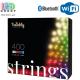 Светодиодная LED гирлянда Twinkly Strings, 35.5/32м, SMART, RGBW, 400 led, Bluetooth + WiFi, Gen II, IP44, кабель чёрный