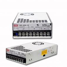 Блок питания 12V, 37,5A, 450W, Mean Well, SE-450-12, металлический корпус, IP20, для внутреннего применения. Гарантия - 2 года.