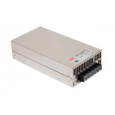 Блок питания 12V, 50A, 600W, Mean Well, SE-600-12, металлический корпус, IP20, для внутреннего применения. Гарантия - 2 года.