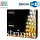 Светодиодная LED гирлянда Twinkly Strings, 35.5/32м, SMART, AWW - оттенки белого, 400 led, Bluetooth + WiFi, Gen II, IP44, кабель чёрный