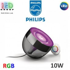 Настольный LED светильник Philips, 10W, RGB, чёрный/фиолетовый, LivingColors Iris