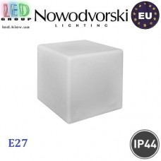 Cветильник/корпус садово-парковый Nowodvorski CUMULUS CUBE M 8966, IP44, 1xE27, накладной, пластик, белый. ЕВРОПА!