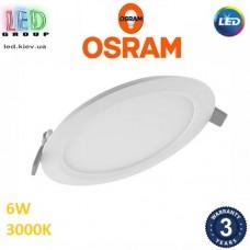 Светодиодный LED светильник Osram, 6W, 3000K, Ø118мм, потолочный, врезной, круглый, белый, DOWNLIGHT, Slim, Ra≥80. Гарантия - 3 года