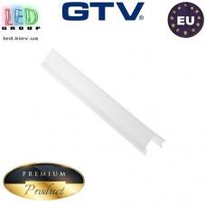 Рассеиватель GTV, ТРЕУГОЛЬНЫЙ, для алюминиевого профиля, молочный - 2 метра. ПРЕМИУМ. ЕВРОПА!!! (для профиля серии GTV GLAX)