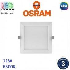 Светодиодный LED светильник Osram, 12W, 6500K, 169х169мм, потолочный, врезной, квадратный, белый, DOWNLIGHT, Slim, Ra≥80. Гарантия - 3 года
