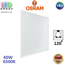 Светодиодная LED панель Osram, 40W, 6500K, врезная, квадратная, 600x600мм, белая, Ledvance. Гарантия - 2 года