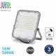 Светодиодный LED прожектор, 50W, 5000K, IP65, алюминий, серый, RA≥80, PREMIUM. Гарантия - 3 года