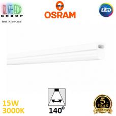 Светодиодный LED светильник Osram, 15W, 3000K, линейный, 900мм, белый, поликарбонат, магистральный, угловое подключение, Ledvance, Ra≥80. Гарантия - 5 лет