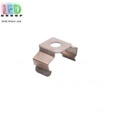 Клипса монтажная для алюминиевого профиля LD-015, металлическая.