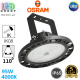 Светодиодный светильник-прожектор Osram, 95W, 4000K, 110º, IP65, высотный, подвесной, алюминий + поликарбонат, чёрный, круглый, HIGH BAY, Ra≥80. Гарантия - 5 лет