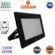 Светодиодный LED прожектор Osram, 150W, 6500K, 110º, IP65, алюминий + стекло, чёрный, ECO FLOODLIGHT, Ra≥80. Гарантия - 2 года