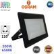 Светодиодный LED прожектор Osram, 200W, 6500K, 110º, IP65, алюминий + стекло, чёрный, ECO FLOODLIGHT, Ra≥80. Гарантия - 2 года