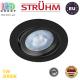 Потолочный светодиодный светильник, Strühm Poland, 5W, 3000K, врезной, пластиковый, круглый, чёрный, RA≥80, MONI LED C. ЕВРОПА
