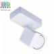 Светильник/корпус потолочный, 1хGU10, накладной, поворотный, алюминиевый, прямоугольный, белый