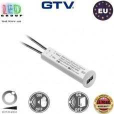 Выключатель с регулятором яркости бесконтактный GTV, 12V/24W, провод 100 мм, белый. ЕВРОПА!!! Гарантия 2 года!