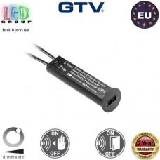 Выключатель с регулятором яркости бесконтактный GTV, 12V/24W, провод 100 мм, чёрный. ЕВРОПА!!! Гарантия 2 года!