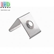 Клипса монтажная для алюминиевого профиля LD-057, металлическая.