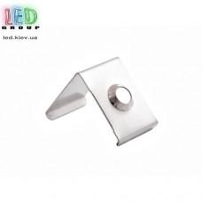 Клипса монтажная для алюминиевого профиля LD-072, металлическая.