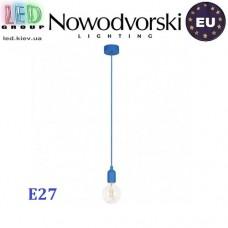 Светильник/корпус потолочный Nowodvorski SILICONE 6402, 1хE27, круглый, синий. ЕВРОПА!!!