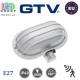 Светильник/корпус/плафон GTV с датчиком движения, IP40, 1xE27, овальный, пластик, белый, KACRKR. ЕВРОПА!