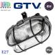 Светильник/корпус/плафон GTV, IP44, 1xE27, овальный, стекло + пластик, чёрный, SANGUESA. ЕВРОПА!