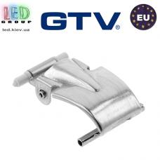 Зажим для светильников, GTV, боковой, металлический, хром, HAGEN. ЕВРОПА!