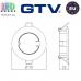 Потолочный светильник/корпус, GTV, встраиваемый, алюминиевый, круглый, патина, PORTO. ЕВРОПА!