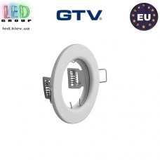 Потолочный светильник/корпус, GTV, встраиваемый, стальной, круглый, белый, PARMA. ЕВРОПА!